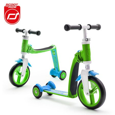 SCOOTANDRIDE Highwaybaby PLUS 2w1 hulajnoga i rowerek 1+ Green