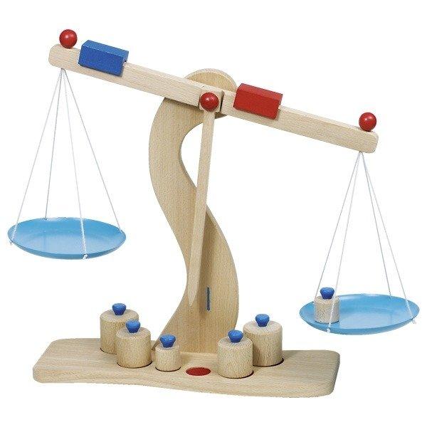 Drewniana Waga Szalkowa Goki Zabawki Gry I Nauka Zabawki