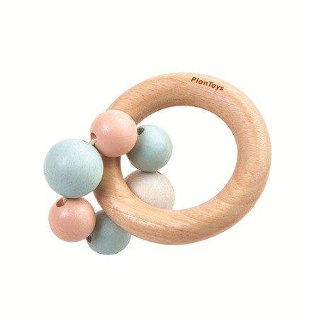 Drewniana pastelowa grzechotka, koraliki | Plan Toys®
