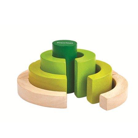 Drewniane klocki, nauka ułamków | Plan Toys®