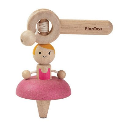 Drewniany bączek, Baletnica, Plan Toys