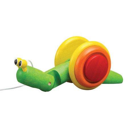 Drewniany ślimak do ciągnięcia, Plan Toys®