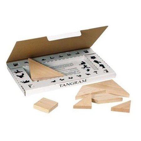 Drewniany tangram, układanka logiczna, Goki GK 318