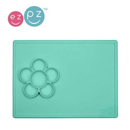 EZPZ Silikonowa mata do zabawy z pojemniczkami 2w1 Flower Play Mat miętowa