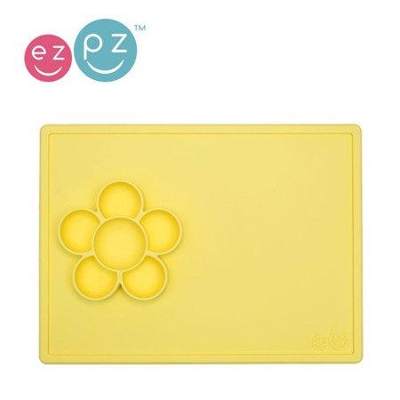 EZPZ Silikonowa mata do zabawy z pojemniczkami 2w1 Flower Play Mat żółta