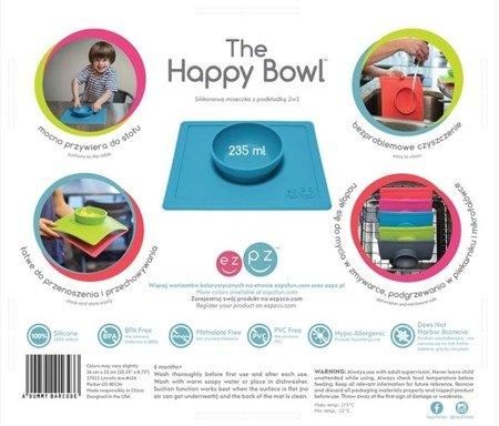 EZPZ Silikonowa miseczka z podkładką 2w1 Happy Bowl szara