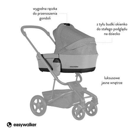 Easywalker Harvey2 Gondola do wózka Stone Grey (zawiera osłonkę przeciwdeszczową)