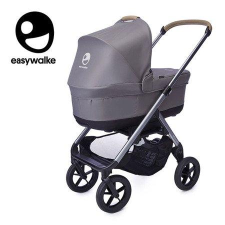 Easywalker Mosey+ Wózek głęboko-spacerowy Pebble Grey (zawiera stelaż, siedzisko z budką i pałąkiem)