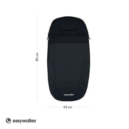 Easywalker Śpiworek do wózka na zimę Onyx Black