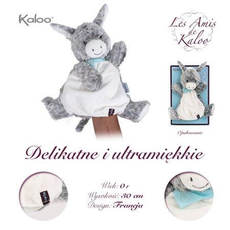 Kaloo Osiołek Popielaty pierwsza przytulanka pacynka 30 cm kolekcja Les Amis