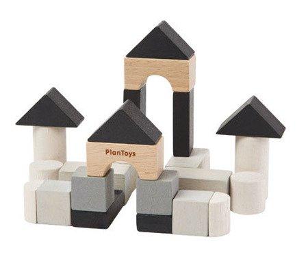 Klocki drewniane, 24el., Plan Toys PLTO-4129