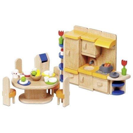 Kuchnia z jadalnią - mebelki do domku dla lalek, GOKI-51747
