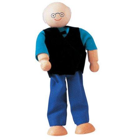 Laleczka drewniana Dziadek, do domku dla lalek, Plan Toys®