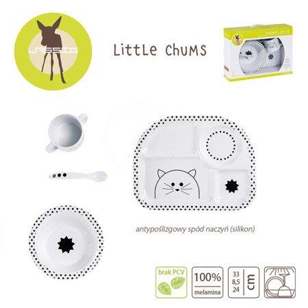 Lassig Komplet naczyń z melaminy Little Chums Kot