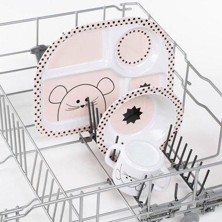 Lassig Komplet naczyń z melaminy Little Chums Mysz