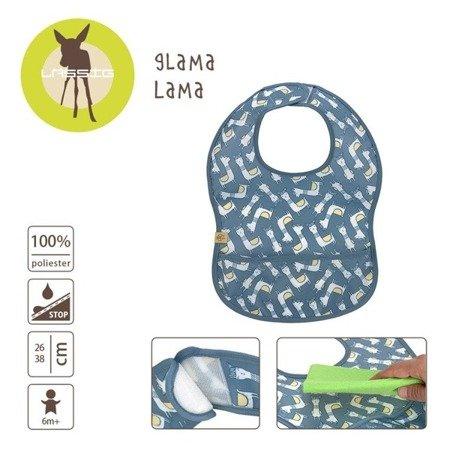 Lassig Lekki śliniak wodoodporny 6m+ Glama Lama blue