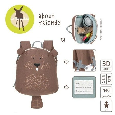 Lassig Plecak mini About Friends Bóbr