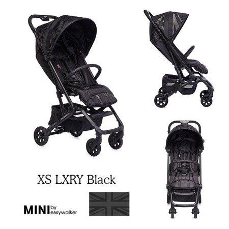 MINI by Easywalker Buggy XS Wózek spacerowy z osłonką przeciwdeszczową LXRY Black