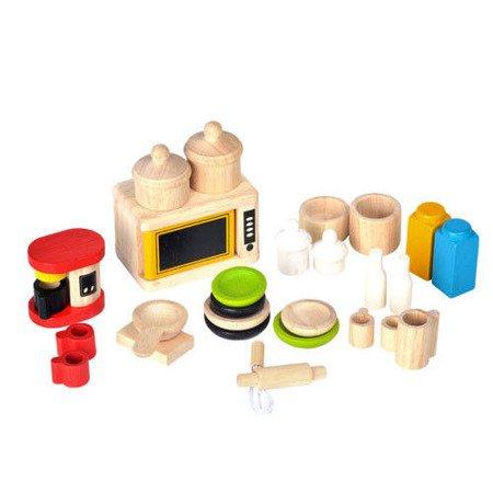 Mebelki dla lalek Dodatki i naczynia do kuchni, Plan Toys  PLTO-9406