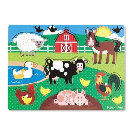 Melissa, Drewniana układanka z uchwytami – Farma