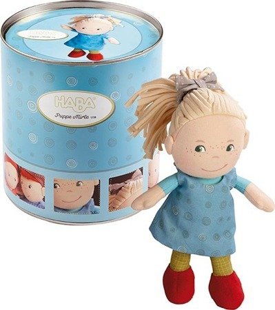 Miękka lalka Mirle, w puszce