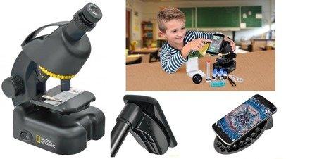 Mikroskop 40x-640x + Smartfon Adapter National Geographic