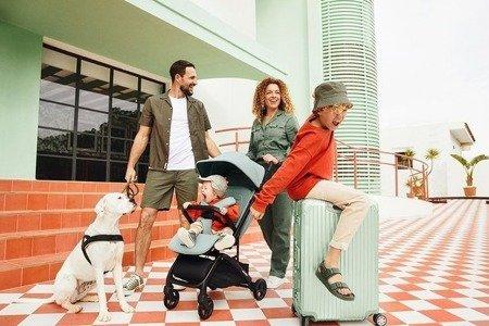 Miley Wózek spacerowy z osłonką przeciwdeszczową Desert Pink