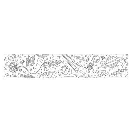 Mudpuppy Kolorowanka w rolce 76cm z 4 kredkami Kosmos