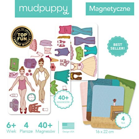Mudpuppy Magnetyczne postacie Baletnice 6+