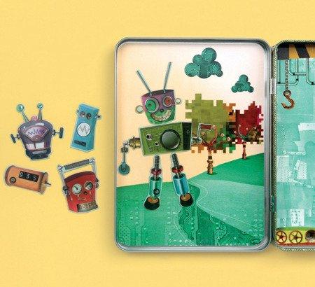 Mudpuppy Magnetyczne postacie Roboty 6+