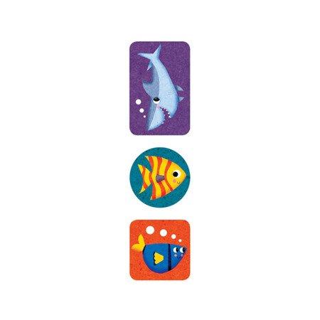 Mudpuppy Naklejki na rolce Podwodny świat 100 szt.