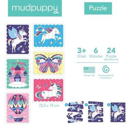 Mudpuppy Puzzle Patyczki Magiczne jednorożce 24 elementy 3+