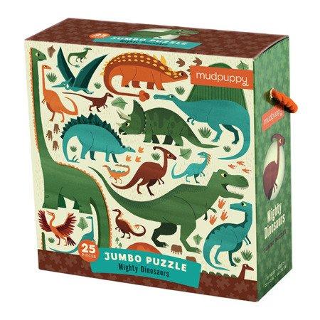 Mudpuppy Puzzle podłogowe Jumbo Potężne dinozaury 25 elementów 2+