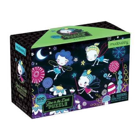 Mudpuppy Puzzle świecące w ciemności Wróżki 100 elementów 5+