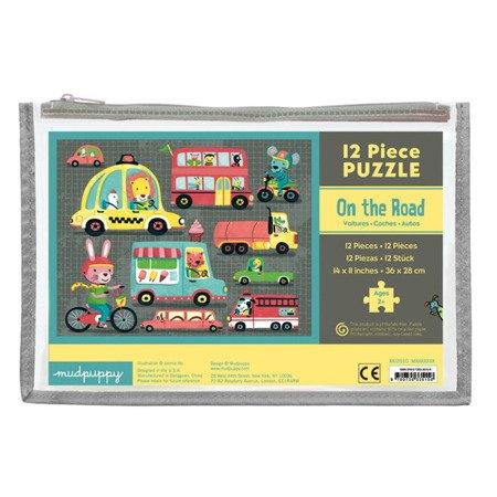 Mudpuppy Puzzle w saszetce Pojazdy 12 elementów 2+