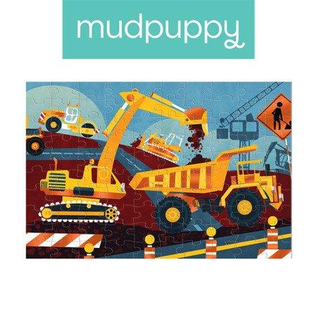 Mudpuppy Puzzle z błyszczącą folią Budowa 100 elementów 5+
