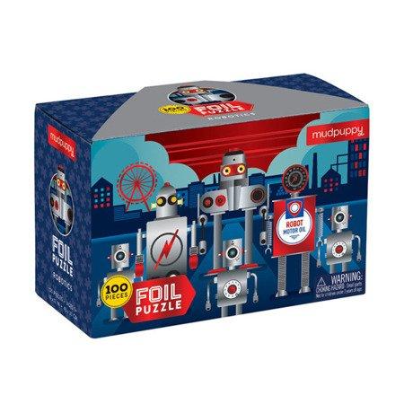 Mudpuppy Puzzle z błyszczącą folią Roboty 100 elementów 5+