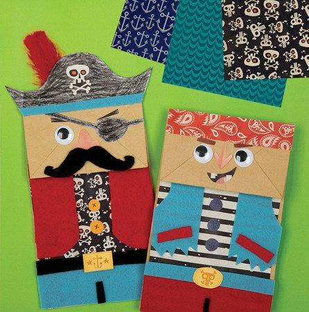 Mudpuppy Zestaw kreatywny Kukiełki  Piraci 4+