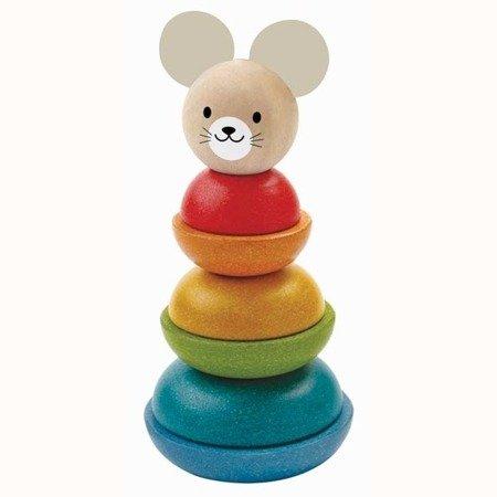 Myszka - wieża do układania, Plan Toys