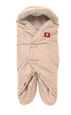 Otulacz rożek Babynomade Tenderness 0-6m Heather beige, Red Castle
