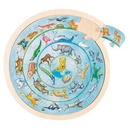 Parada zwierząt, układanka puzzle, Goki 57790
