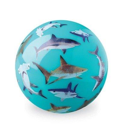 Piłka 10 cm, wzór rekiny
