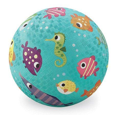 Piłka 5'', 13cm, wzór Rybki, Crocodile Creek