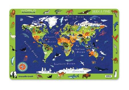 Podkładka, motyw zwierzęta świata, Crocodile Creek