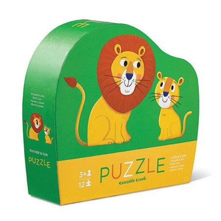 Puzzle 12 el., Mały lew, Crocodile Creek