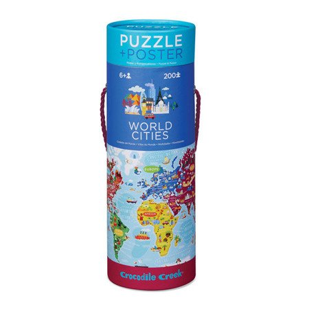 Puzzle 200 el., z plakatem, Miasta Świata, Crocodile Creek 2874-3