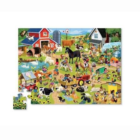 Puzzle 48 el. Dzień na farmie