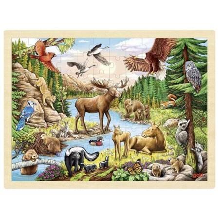 Puzzle Zwierzęta Północnoamerykańskie, Goki