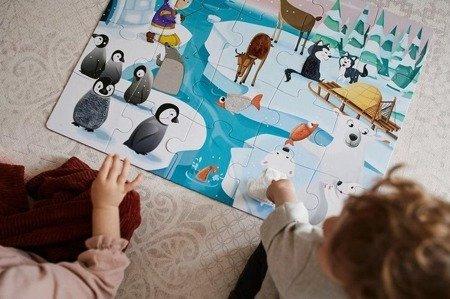 Puzzle sensoryczne 20 elementów Lodowa kraina, Janod