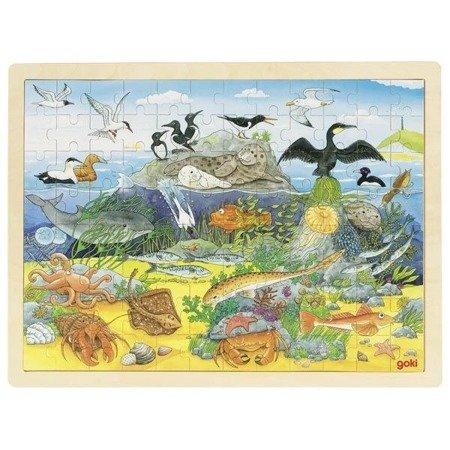 Puzzle zwierzęta nadmorskie i podwodne